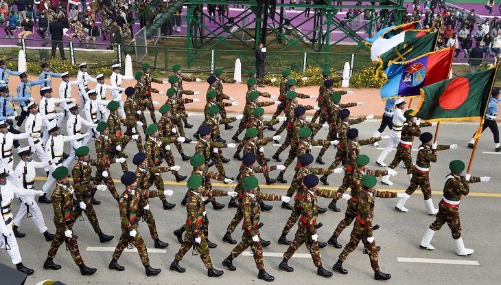 ভারতের প্রজাতন্ত্র দিবসের কুচকাওয়াজে বাংলাদেশি সেনা