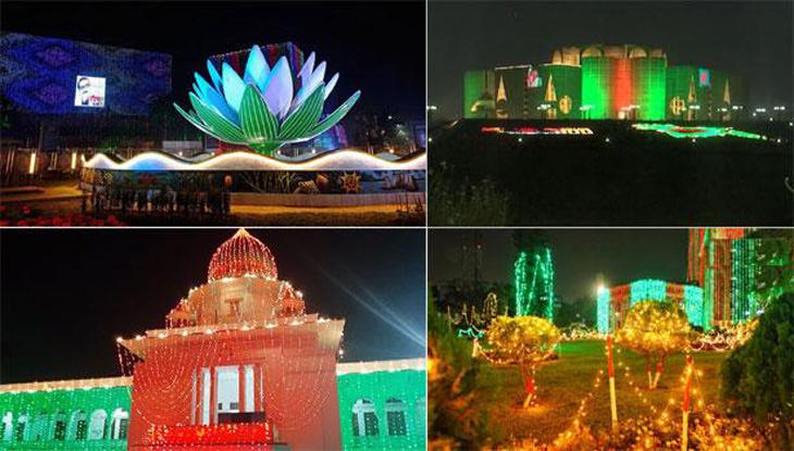 বর্ণিল সাজে রাজধানী ঢাকা
