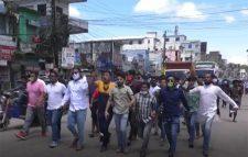 নোয়াখালীতে ১৪৪ ধারা ভঙ্গ করে মিছিলঃ পুলিশের লাঠিচার্জ, এলাকায় থমথমে পরিস্থিতি